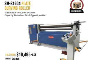 Be Quick - $3000 Off Showroom 1600mm x 4mm Single Pinch Power Curving Roller