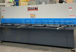 ASSET Industrial Heavy Duty 3200mm x 6.5mm Hydraulic Guillotine With Rear Pneumatic Sheet Supports