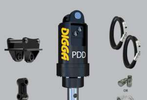 Digga PDD auger drive With Hoses and Couplers and Double Pin Hitch