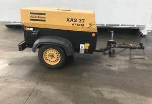 Atlas Copco XAS37KD 67cfm Air Compressor