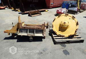 CATERPILLAR FRONT SPINDLE & EARTHMOVING TYRE LIFTING FRAME