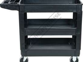 PSC-3T Plastic Service Cart 3 Trays 1010 x 435 x 840mm - picture2' - Click to enlarge