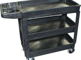 PSC-3T Plastic Service Cart 3 Trays - picture0' - Click to enlarge
