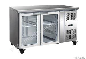 F.E.D. GN2100TNG Two Glass Door Under Bench Fridge