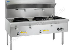 Luus WF-2C2B  Traditional Wok 2 Chimney & 2 Open Burners