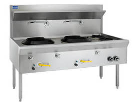 Luus WF-2C2B  Traditional Wok 2 Chimney & 2 Open Burners - picture0' - Click to enlarge