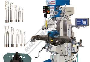 HM-50 Turret Milling Machine Package with Digital Readout & Tooling Accessories (X) 600mm (Y) 220mm