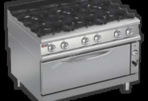 Baron 9PCFL/G1205 Six Burner Gas Cook Top with Full Length Gas Oven