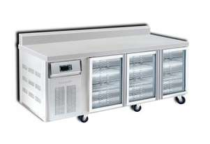 Semak BC2100-G6 3 Door 2100 Bar Chiller with Splashback