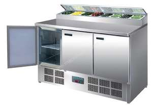Polar Refrigerated 3 Door Counter Salad/Pizza Preparation (M)-AUS PLUG