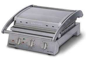 Roband GSA610RT Grill Station, 6 slice ribbed top plate non-stick coated