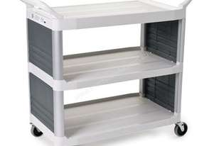 Rubbermaid Xtra Utility Cart - 2 Enclosed Sides