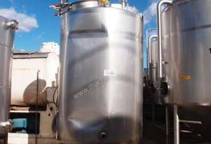 Stainless Steel Mixing Tank (Vertical), Capacity: 2,250Lt