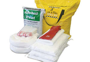 Oil & Fuel Spill Kit with Global Peat. 122L absorbent capacity. Canvacon bag. Ideal for trucks & van