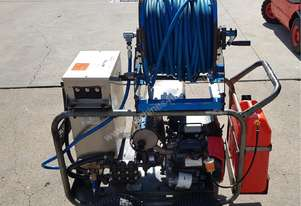 Jetwave HP280-26 Cold Water Petrol-Driven Pressure Cleaner with hose reel.