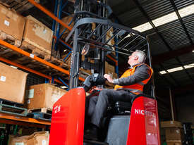 New Electric Sit-on Reach Truck For Sale - picture0' - Click to enlarge