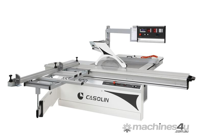 PANEL SAW ASTRA 500 CASOLIN 5 AXIS CNC O/HEAD CONTROL, 3 DRT, 3.8M TABLE, 1.3M RIP, M/MOTOR 7.5HP, Q