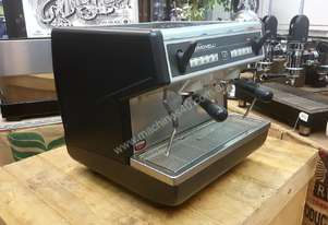 NUOVA SIMONELLI APPIA COMPACT HIGH CUP 2 GROUP BLACK ESPRESSO COFFEE MACHINE