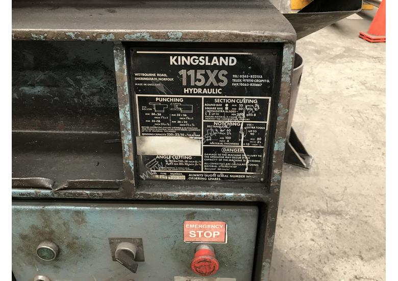 Used kingsland Punch and Shear- Cropper Iron Worker in