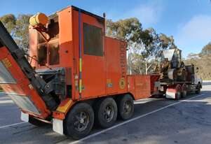 Green, wood and timber waste mobile processing unit MT8000 add on prime mover, loader , service ute
