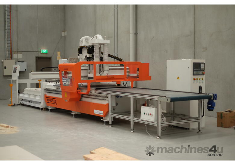 New WP1836 CNC Nesting Machine 3600 x 1800 with Busch Pumps/Auto label/Auto on and offload