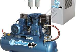 K25/21 Industrial Pilot Air Compressor & TFD-6 Refrigerated Air Dryer Package Deal 150 Litre / 5.5hp