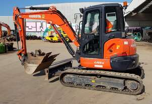 2016 KUBOTA U55-4 EXCAVATOR WITH A/C CABIN AND TILT HITCH