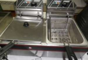 IFM SHC00576 Used Twin Bay Benchtop Fryer