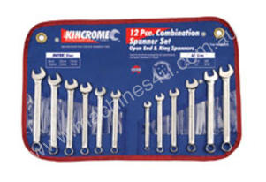 KINCROME Combination Spanner Set 12Piece AF/Metric