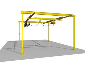 Light Capacity Track Gantry Cranes. - picture0' - Click to enlarge