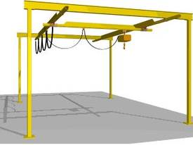 Light Capacity Track Gantry Cranes. - picture6' - Click to enlarge