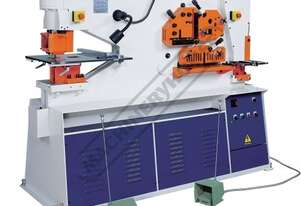 IW-125SD Hydraulic Punch & Shear - 125 Tonne Dual Hydraulic Cylinders with Independent Operating Sta
