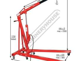 HPC-1T Pneumatic & Hydraulic Engine Crane 1 Tonne Lifting Capacity - picture2' - Click to enlarge