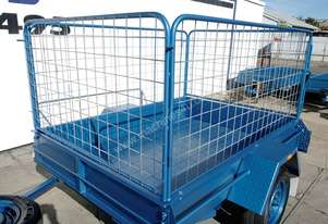 7x4 Heavy Duty Commercial Trailer with Cage