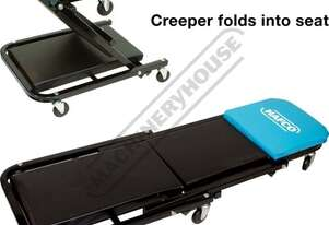 MCW-47C Heavy Duty 2 in 1 Mechanics Creeper & Seat Combination 1200mm Back Rest 150kg Weight Capacit