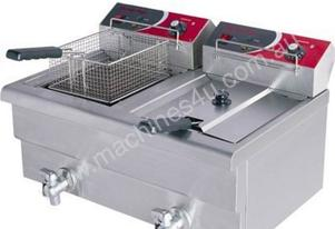 F.E.D. EF-S7.52 10 Amp Double Benchtop Electric Fryer