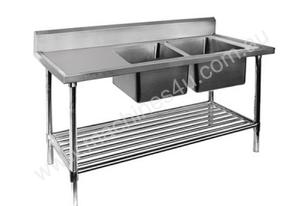 F.E.D. DSB7-2400R/A Double Right Sink Bench with Pot Undershelf