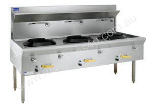 Luus Model WF-3C Traditional Wok 3 Chimney Burners