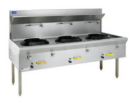 Luus Model WF-3C Traditional Wok 3 Chimney Burners - picture0' - Click to enlarge