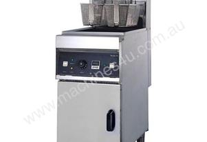 Autolift Single Vat Electric Fryer w/Cold Zone