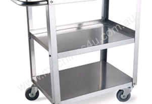 WORK TROLLEY 840X530X864MM S/STEEL WOOD