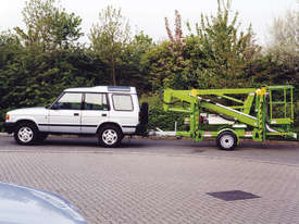Nifty 120T 12.2m Trailer Mount  - Maximum reach - compact chassis - picture0' - Click to enlarge