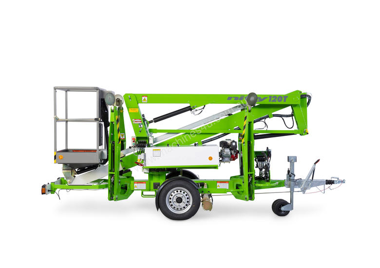 Nifty 120T 12.2m Trailer Mount  - Maximum reach - compact chassis