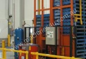 Used SAFETECH double pallet dispenser / stacker