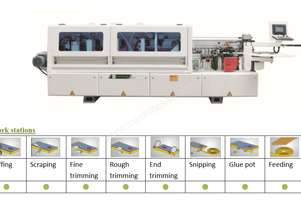 NANXING Touch Screen Automatic Edgebander with separate Corner Rounding Machine NBC332