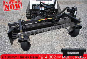 2100mm MX7H Harley Rake Suit Bobcat skid steer ATTRAK