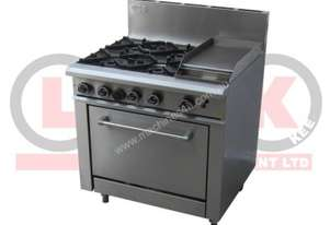 LKKOB6C 4 Gas open burner cooktop + Gas Hotplate