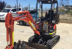 2016 Kubota U17-3 Zero Swing Mini Excavator - Low 355 Hours