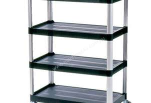 Rubbermaid 4096 Xtra Four Shelf Cart - Open Sided