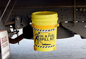 Oil & Fuel Spill Kit. Truck mounted 34L absorbent capacity. Ideal for trucks & vans